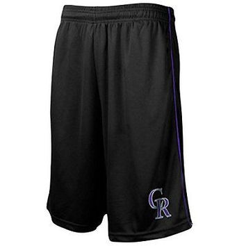 Colorado Rockies Majestic Rush To Victory Shorts Big and Tall Size XLT