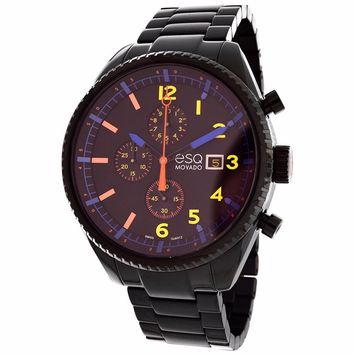ESQ BY MOVADO MEN'S CATALYST BLACK STAINLESS STEEL CHRONOGRAPH WATCH 07301452