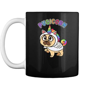 Funny Pug  Majestic Unicorn Pugicorn Dog  Mug