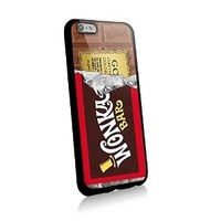 Willy Wonka Golden Ticket Chocolate Bar for Iphone and Samsung Galaxy Case (iphone 6 plus black)