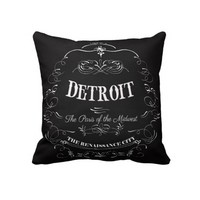 Detroit Michigan - The Paris of the Midwest Throw Pillow