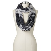 Candie's Lace Print Infinity Scarf