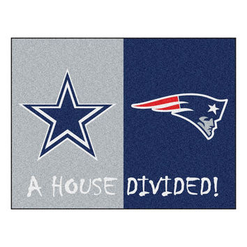 Dallas Cowboys-New England Patriots NFL House Divided NFL All-Star Floor Mat (34x45)