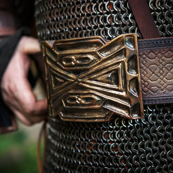 Belt of Thorin Oakenshield/ Hand Tooled Leather Belt for LARP/LOTR / Thorin Cosplay / Hobbit Cosplay