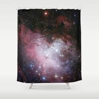 Nebula star Eagle constellation galaxy hipster NASA space stars hipster geek sci fi landscape photo Shower Curtain by iGallery
