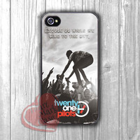 Twenty One Pilots quote and logo -dtw for iPhone 6S case, iPhone 5s case, iPhone 6 case, iPhone 4S, Samsung S6 Edge