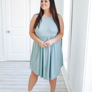 In the Meadow Dress + Dark Seafoam