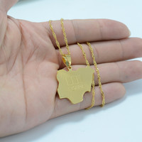 Aliexpress.com : Buy 18K gold plated nigeria map pendant & necklaces for women/men,Country maps africa nigerians map jewelry #016A210 from Reliable necklace pendant holder suppliers on Golden Mark Jewelry Factory