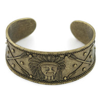 Indian Friendship Cuff Bracelet in Bronze