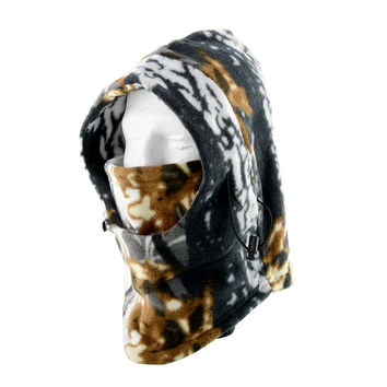 Camo Balaclava Hat Polar Fleece Cap Hunting Ski Gear Headwear Neck Warmer Facemask Multicolor Full Face