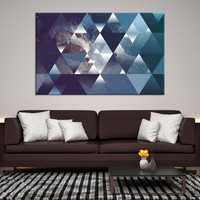 47650 - Abstract Canvas Print - Framed - Ready to Hang | Abstract Wall Art