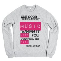 Music-Unisex Heather Grey Sweatshirt