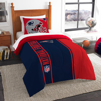 New England Patriots NFL Twin Comforter Set (Soft & Cozy) (64 x 86)