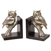 Perched Owl Bookend (Set of 2)