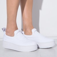 Speedy White Platform Sneakers