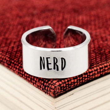 Nerd Ring - Geekery - Adjustable Aluminum Ring