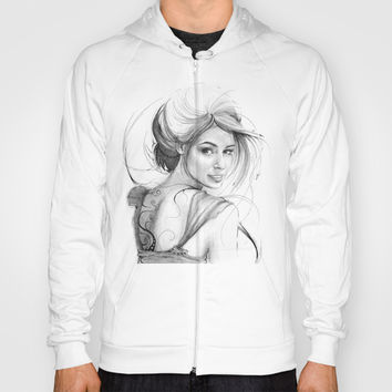 Beautiful Fairy Drawing Hoody by Olechka