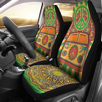 Hippie Peace Van Car Seat Covers