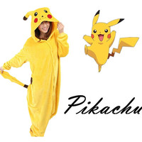 Pikachu Pokemon Cosplay Costume Pajamas