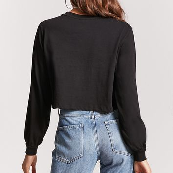 Long-Sleeve Cropped Tee