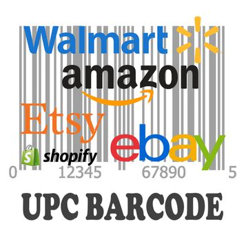 10,000 UPC Code Number For Listing on Amazon Walmart Ebay Etsy Shopify EAN Code