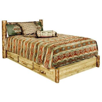 Montana Woodworks - Glacier Country Collection Full Platform Bed w/ Storage