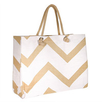 Chevron Tote Bag from The Preppy Pair