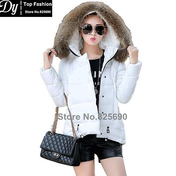 New Padded Winter Jacket Women Cotton Women's Winter Jacket Fake Fur Hooded Cape Padded Slim Plus Size Solid Parkas Hooded Coat
