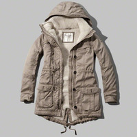 Twill Sherpa Lined Parka