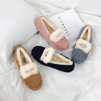 UGG Wool Fur Casual Shoes Slipper