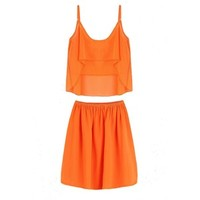 Yoins Orang Cami Top Co-ord