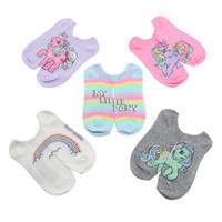 My Little Pony Classic Pastel No-Show Socks 5 Pair