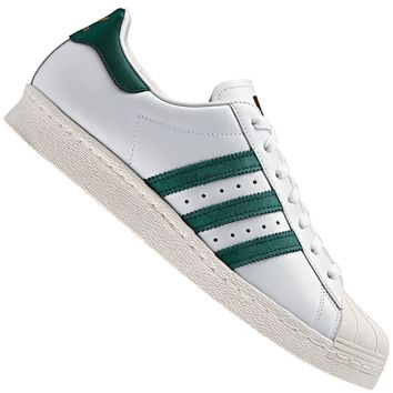 adidas Originals Superstar 80s Gum Outsole Herren-Sneaker Wei?/Gr¨¹n BB2230