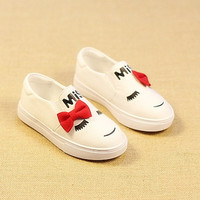 Baby Kids Casual Flats Slip On Loafer Bownot Shoes Sneaker = 1704367748