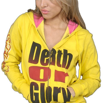 Ed Hardy Death or Glory Zip Up