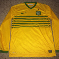 Sale!! Nike CELTIC FC long sleeve Soccer Jersey SCOTLAND Football Shirt