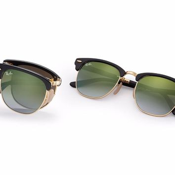 Ray-Ban Sunglasses Clubmaster Folding Black RB2176 901S9J