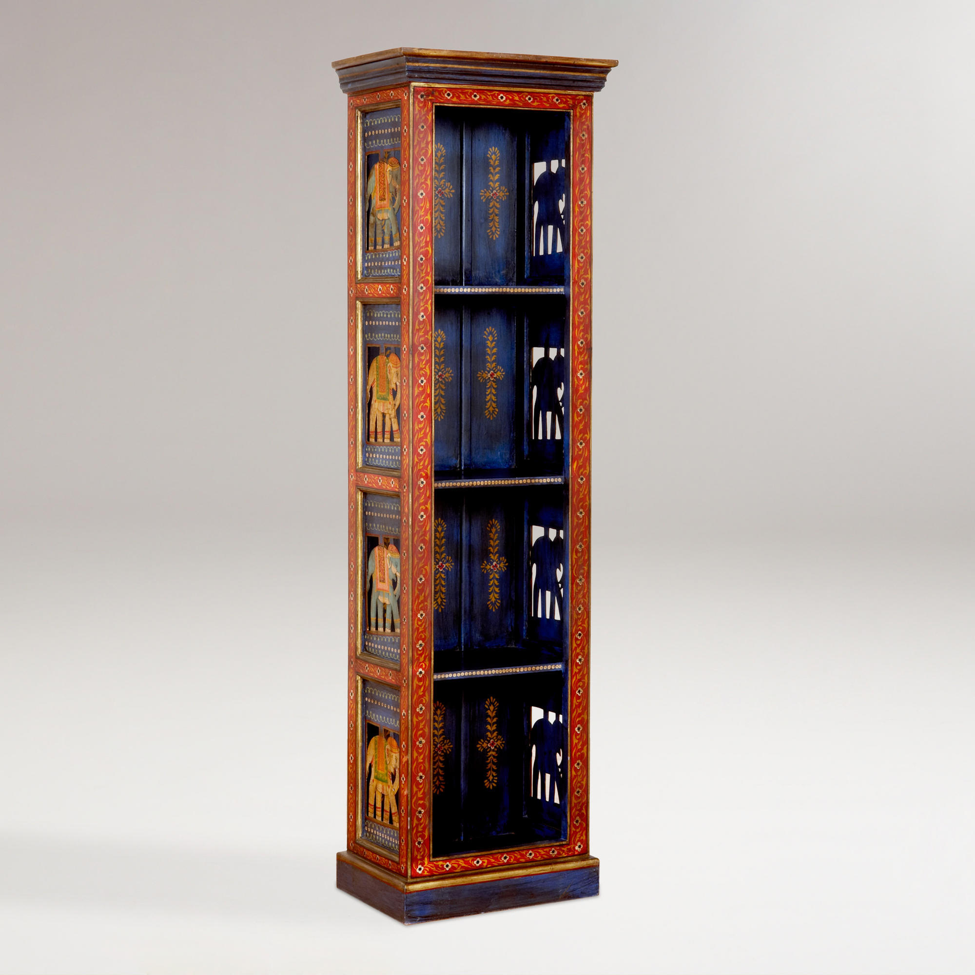 Painted Elephant Wood Cabinet World From Cost Plus World Market. Full resolution  pic, nominally Width 2000 Height 2000 pixels, pic with #AD3E1E.