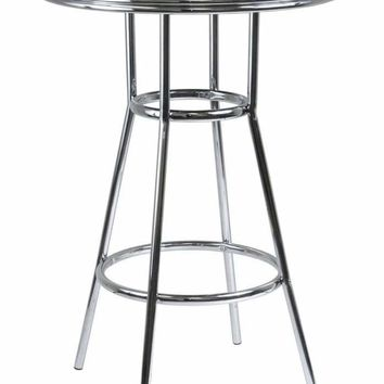 "Round Steel Legged Modern Retro Summit 30"" Pub Table by Winsome Woods"