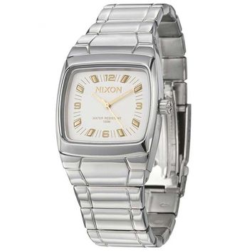 Nixon A760702 Women's Manual Stainless Steel White Dial Watch