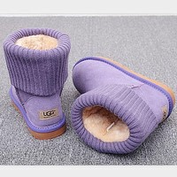 UGG Classic Popular Plush Leather Boots Boots In Tube Boots Purple I/A