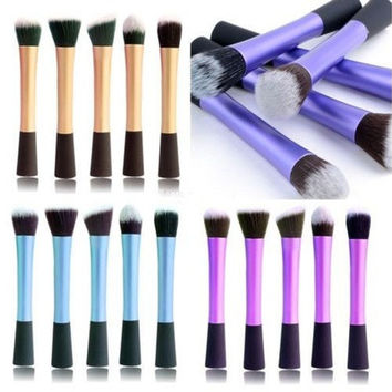 5 Type 4 Color Pro Concealer Dense Powder Blush Foundation Brush Cosmetic Makeup [8096802567]