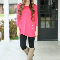 Look on the Bright Side Tunic - Hot Pink