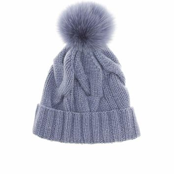 Courchevel fur-trimmed beanie