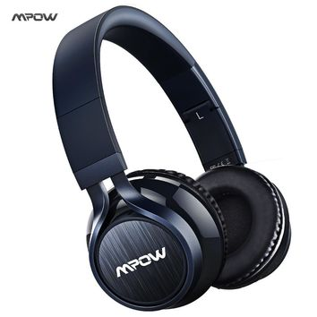 2017 Mpow bluetooth headset wireless bluetooth 4.0 stereo headphone HANDS-FREE 3.5mm jack microphone wired & wireless headphone