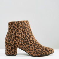 Pimkie Leopard Print Heeled Ankle Boot