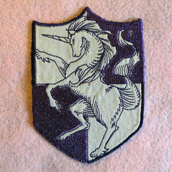 Unicorn Shield Iron on Patch by GerriTullis on Etsy