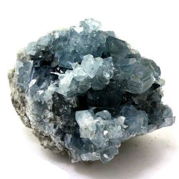 Blue Celestite Crystal Cluster from Madagascar