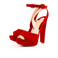 Louloudancing 140 Rougissime Suede - Women Shoes - Christian Louboutin