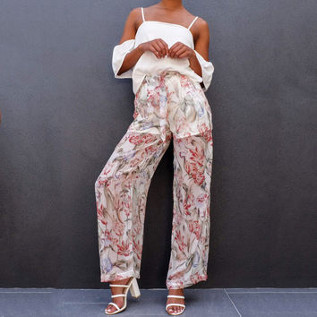 Summer Casual Wide Leg Pants